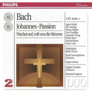 Bach, St.John Passion, Jochum, Haefliger, CD cover