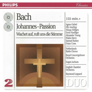 Bach, St.John Passion, Jochum, Haefliger, CD cover