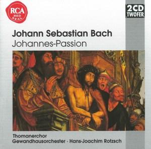 Bach, St.John Passion, Rotzsch, Schreier, CD cover