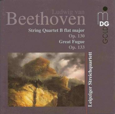 Beethoven, string quartets opp.130 & 133, Leipziger Streichquartett, CD cover