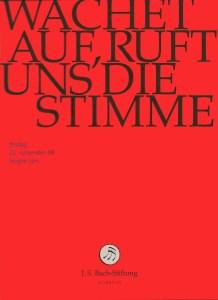 Bach: Cantata BWV 140, Lutz, Bach Foundation St.Gallen, DVD cover