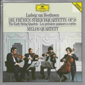 Beethoven, string quartets op.18, Melos Quartett, CD cover