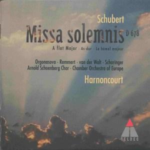 Schubert: Missa solemnis A♭ D.678, Harnoncourt, CD, cover