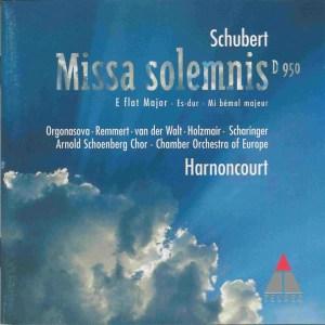 Schubert: Missa solemnis E♭ D.950, Harnoncourt, CD, cover