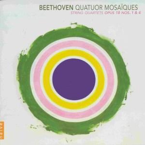 Beethoven, string quartets opp.18/1 & 18/4, Quatuor Mosaïques, CD cover