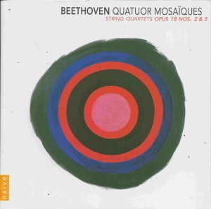 Beethoven, string quartets opp.18/2 & 18/3, Quatuor Mosaïques, CD cover