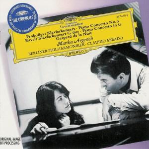 Prokofiev / Ravel: Piano concertos —Argerich, Abbado, CD cover