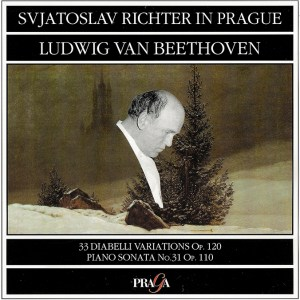 Beethoven: Diabelli Variations op.120, Piano Sonata op.110 — Richter, CD cover