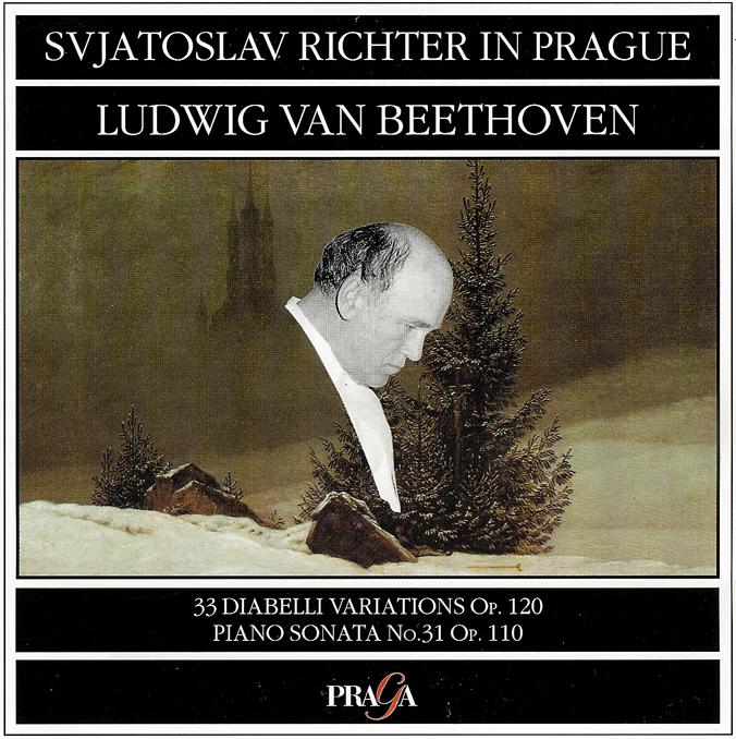 Beethoven: Diabelli Variations op.120, Piano Sonata op.110 — Richter, CD cover