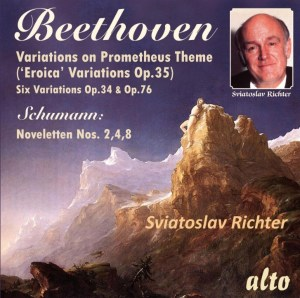Beethoven: Eroica & other Variations; Schumann: Novelletten — Richter, CD, cover