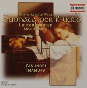 Silvius Leopold Weiss: Lautensonaten, Imamura, CD cover