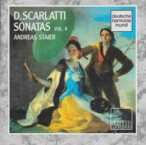 Domenico Scarlatti, Sonatas vol.II, Staier, CD, cover