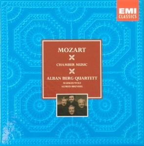 Mozart: Chamber Music (10 string quartets, 2 string quintets, etc.), Alban Berg Quartett, CD cover