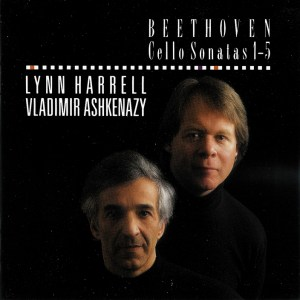 Beethoven: Cello sonatas, Harrell, Ashkenazy, CD cover