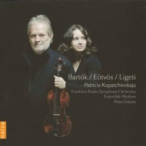 Bartok / Eötvös / Ligeti: violin concertos - Kopatchinskaja / Eötvös, CD cover