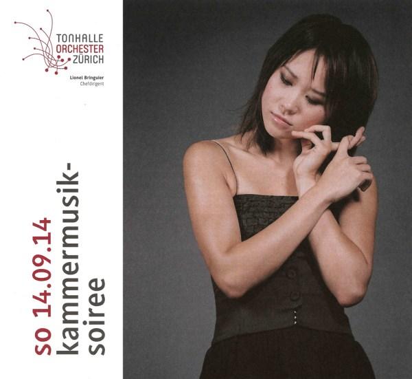 Chamber music concert at Tonhalle Zurich, Yuja Wang / program title