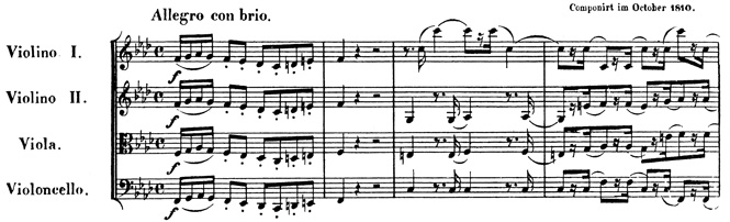 Beethoven, string quartet op.95, mvt.1, score sample