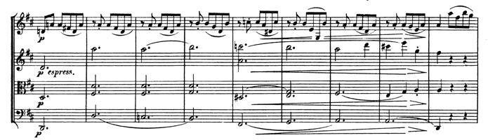 Beethoven, string quartet op.95, mvt.3, score sample, espressivo