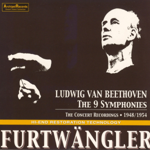 Beethoven: Symphonies 1 - 9 — Furtwängler, concert recordings; CD cover