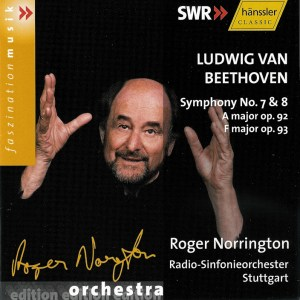 Beethoven: Symphonies 7/8 — Norrington, RSO Stuttgart; CD cover