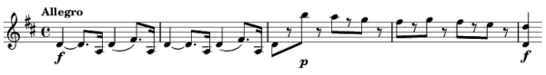 Mozart: Symphony No.4 in D, K.19 —score sample, mvt.1 (old)