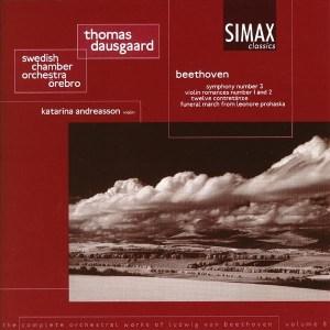 Beethoven: Symphony 3, Violin Romances, etc. —Dausgaard / SCO; CD cover