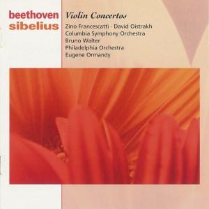 Beethoven / Sibelius: Violin Concertos — Francescatti, Walter; CD cover