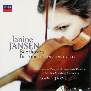 Beethoven / Britten: Violin Concertos — Jansen / Järvi; CD cover