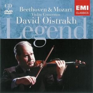 Beethoven / Mozart: Violin Concertos —Oistrakh, Cluytens; CD cover