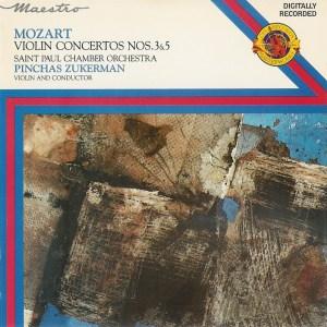 Mozart: Violin concertos 3 & 5 —Zukerman; CD cover