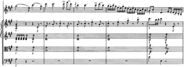 Mozart: Violin Concerto No.5 in A, K.219 —score sample, mvt.1, Allegro aperto