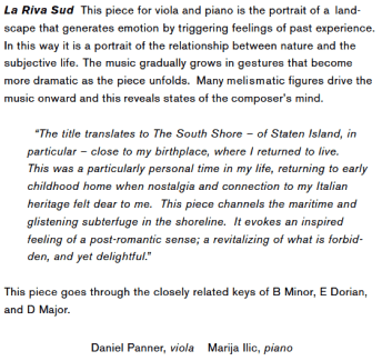 Michael Waller: The South Shore —sample comment from the booklet