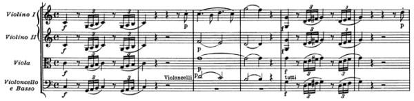 """Mozart: Symphony No.41 in C major, K.551, """"Jupiter"""" —score sample, mvt.1"""