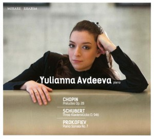 Chopin / Schubert / Prokofiev, played by Yulianna Avdeeva — CD cover