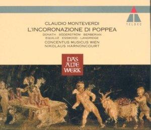 Monteverdi: L'Incoronazione di Poppea — Harnoncourt, Concentus musicus; CD cover