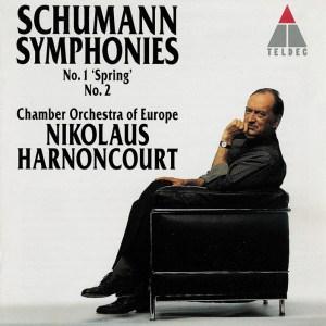 Schumann: Symphonies No.1 & 2 — Harnoncourt; CD cover