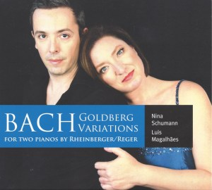 Bach / Rheinberger / Reger: Goldberg Variations — TwoPianists; CD cover