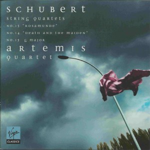 Schubert: String Quartets No. 13-15 —Artemis Quartet; CD cover