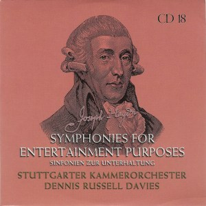 Haydn: The Symphonies, CD #18f., Dennis Russell Davies, CD cover