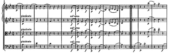 Haydn, Symphony No.68 in B♭ major, score sample, mouvement #2, Trio