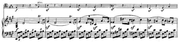 Beethoven, Cello Sonata in A major, op.69; score sample: movement I, theme 4