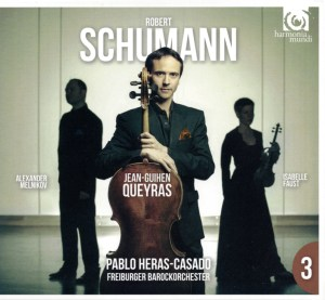 Schumann: Piano Trio #1, Cello Concerto — Queyras, Heras-Casado; CD cover
