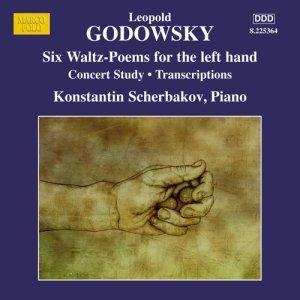 Godowsky, piano works, vol.12 (6 Waltz-Poems, left hand) —Konstantin Scherbakov; CD cover