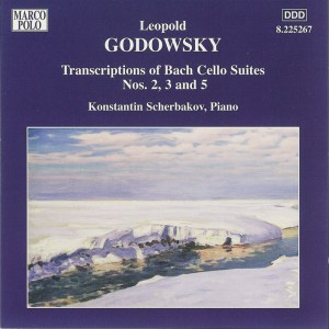 Godowsky, piano works, vol.7 (Bach Cello Suites 2, 3, 5) — Konstantin Scherbakov; CD cover