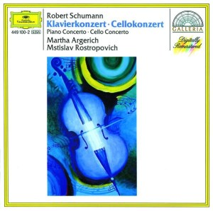 Schumann: Piano & Cello Concertos — Argerich, Rostropovich; CD cover
