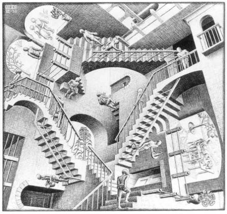 Drawing by Maurits Cornelis Escher (1898-1972)