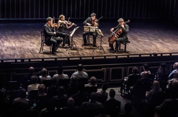 Festival Academy Budapest — Kelemen Quartet: Barnabás Kelemen, Katalin Kokas, Gábor Homoki, László Fenyö (© Andrea Felvegi)