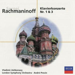 Rachmaninoff: Piano concertos 1 & 3 — Ashkenazy, Previn; CD cover