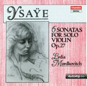 Ysaÿe: 6 Solo Sonatas op.27 —Mordkovich: CD cover