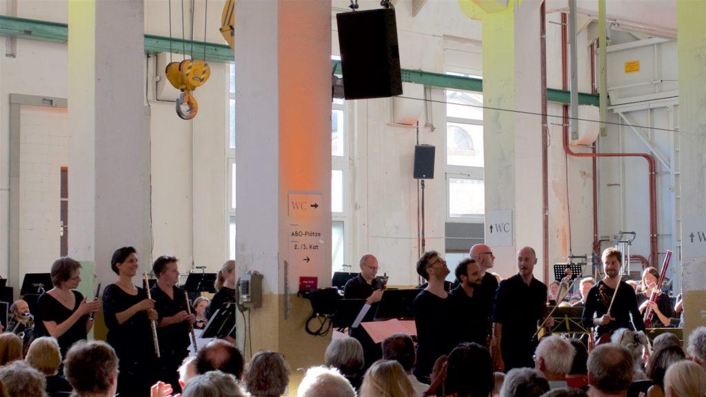 Kaleidoscope String Quartet, Basel Sinfonietta @ Altes Kraftwerk, Basel, 2018-06-10 (© Rolf Kyburz)